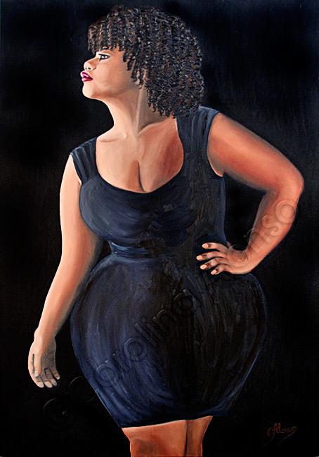Black is Beautyful (2016), 100 x 70 cm, oil on canvas