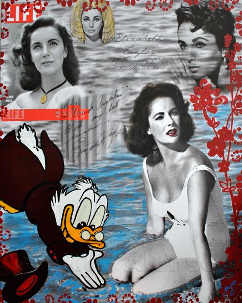 Jetzt ne Abkühlung (2011), 100 x 80 cm,  Print & Acryl auf Leinwand