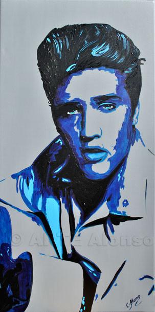 Elvis (2011), Acryl auf Leinwand, 100 x 50 cm