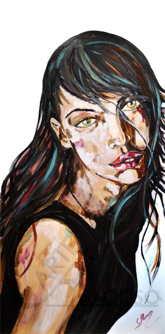 Sehnsucht (2013), 100 x 50 cm, Acryl auf Polystyrolplatte