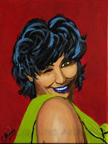 Caro Pop (2009), 40 x 30 cm, Acryl auf Leinwand