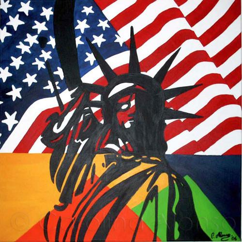 Liberty (2007), 80 x 80 cm,  Acryl auf Leinwand