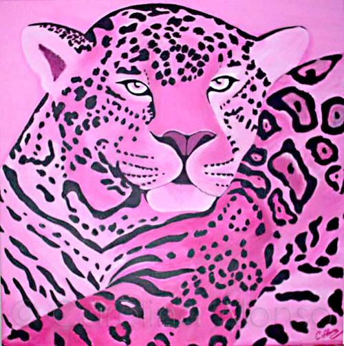 Pink Leo (2007), 60 x 60 cm, Acryl auf Leinwand
