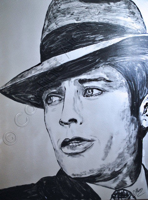 Borsalino (2014), Mixed Media on canvas, 100 x 80 cm