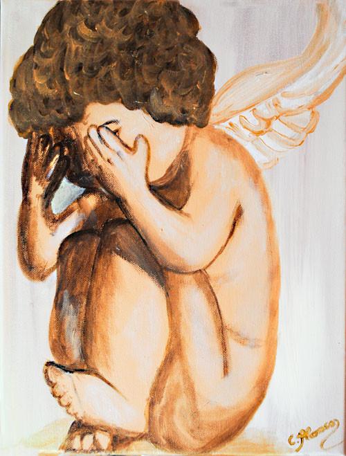 denkender Schutzengel (2010), 40 x 30 cm