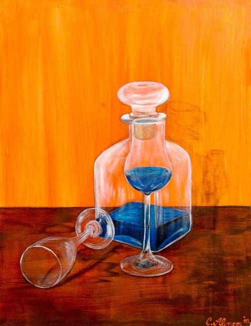 Blue Curasao, 80 x 60 cm