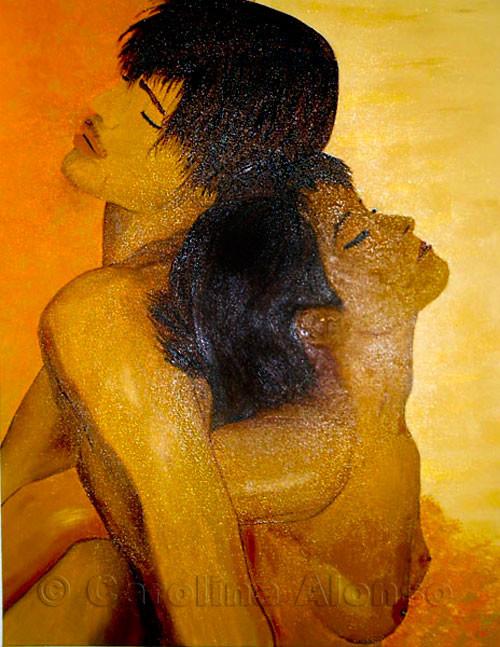 Umarmung (2006) 80 x 60 cm