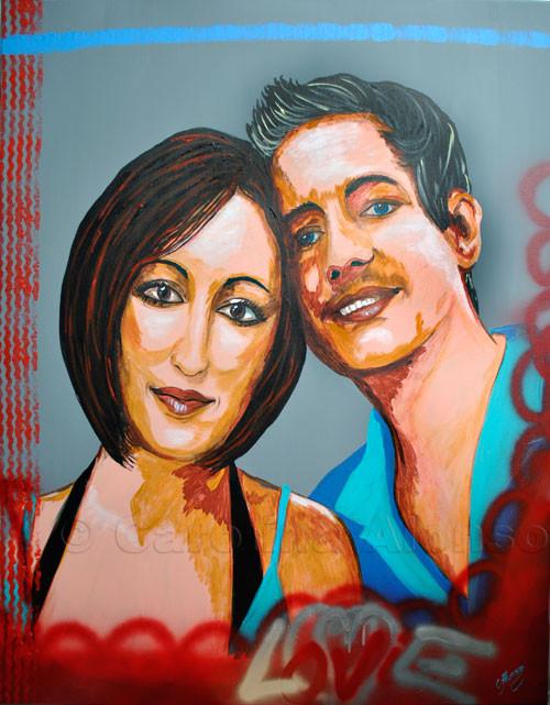 Love (2011), 120 x 100 cm,  Acryl auf Leinwand