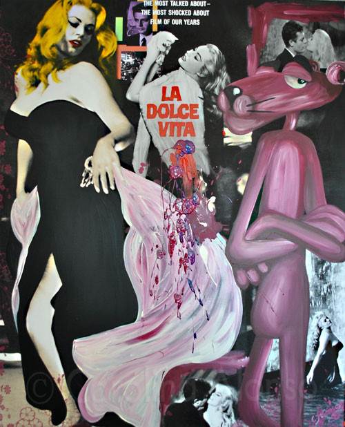 La Dolce Vita (2011), 100 x 80 cm,  Print & Acryl auf Leinwand