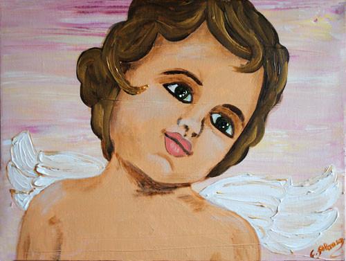 Ángel de la suerte (2010) 30 x 40 cm