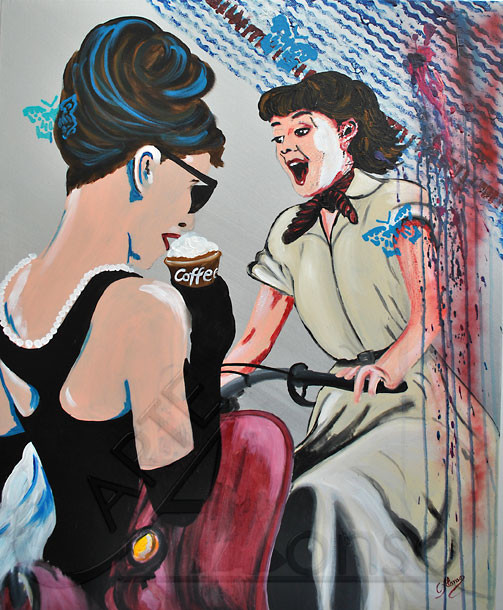 Vacaciones by Tiffany  (2012), 100 x 80 cm, Acryl auf Leinwand