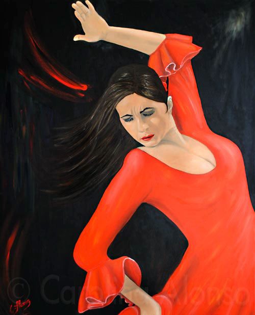 Carmen (2010), 100 x 80 cm, Öl auf Leinwand