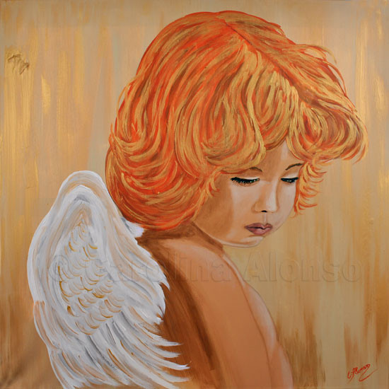 Angel Guardin (2011), 80 x 80 cm
