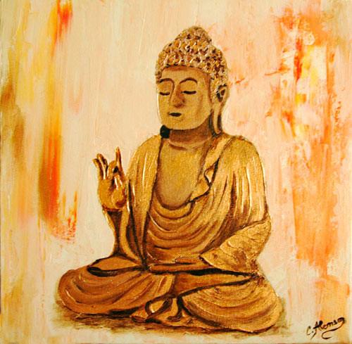 Buddha Bronze (2008) 30 x 30 cm