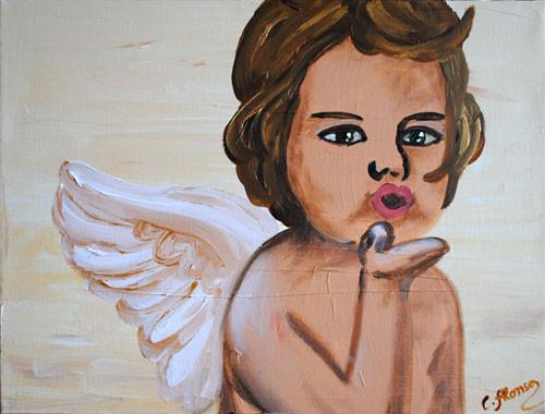 geküsst.... (2010) 30 x 40 cm