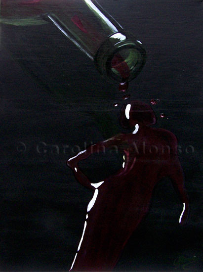 Mujer de Vino (2009), 80 x 60 cm