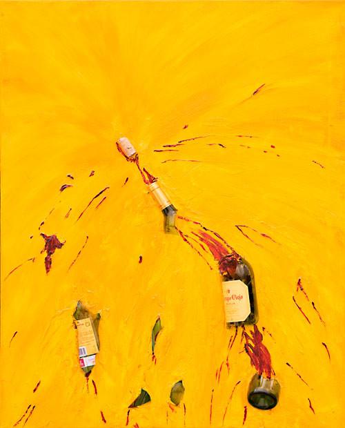 Weinexplosion (2009), 100 x 80 cm