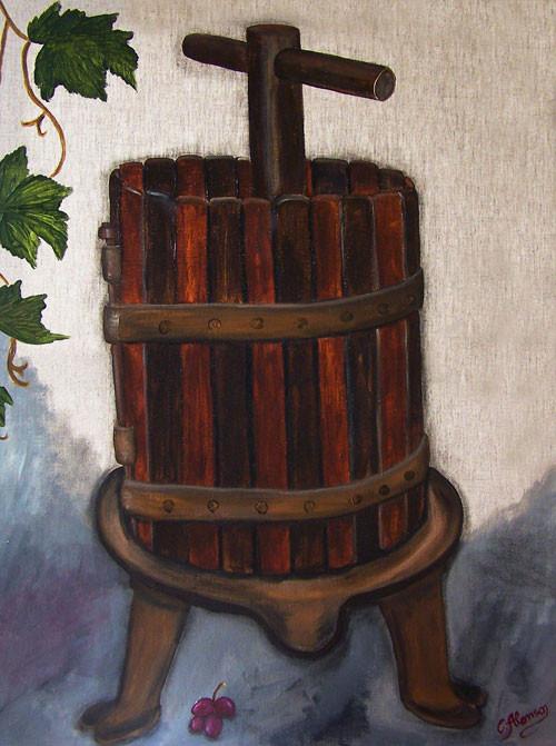 Alte Weinpresse (2009) 80 x 60 cm