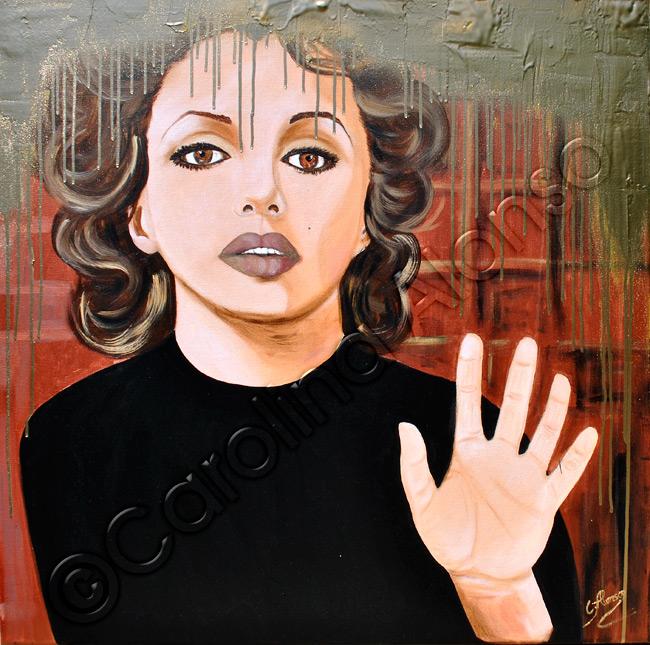 Entkommen (2015), 80x80 cm, MixedMedia auf Leiwand