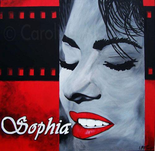 Sophia (2007) 80 x 80 cm