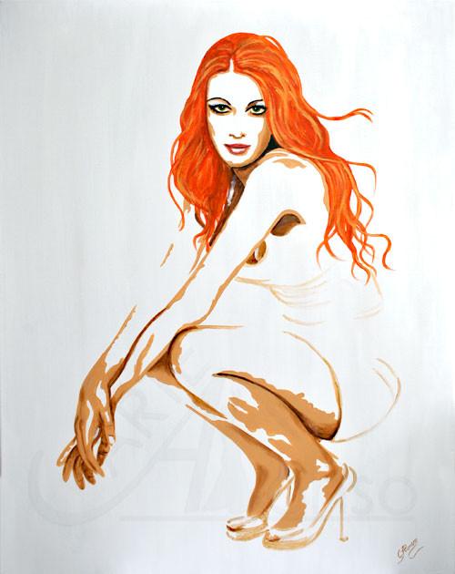 Ruhendes Feuer (2012), 100 x 80 cm