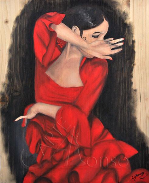 Der Schwung II (2011), 50 x 40 cm Öl auf Holzplatte