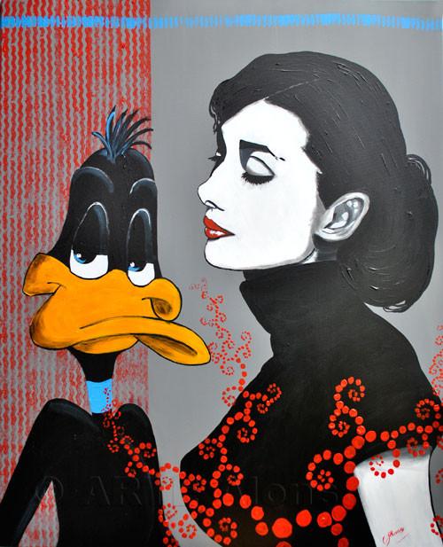 Schau mich an.... (2011), 100 x 80 cm