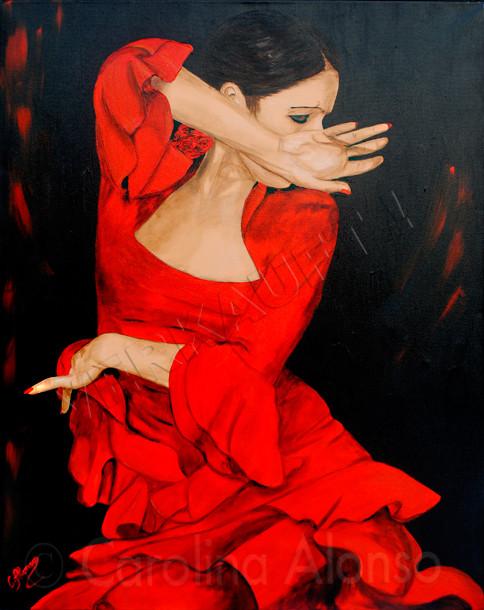Der Schwung (2010), 100 x 80 cm