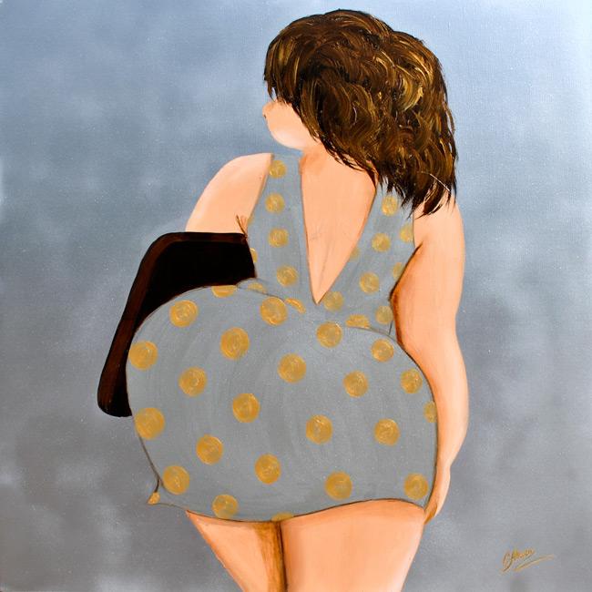 Zur Arbeit! (2018), 80 x 80 cm, Acryl auf Leinwand