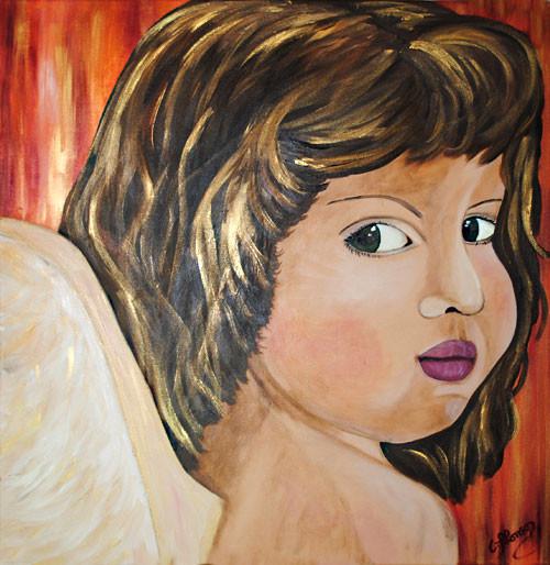 Engel oder Bengel ? (2010) 80 x 80 cm