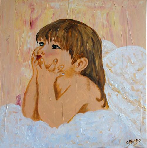 Angelito (2010) 50 x 50 cm