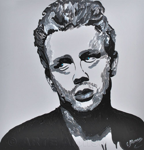 Jeames Dean, (2011), 50 x 50 cm, Acryl Polystyrolplatte