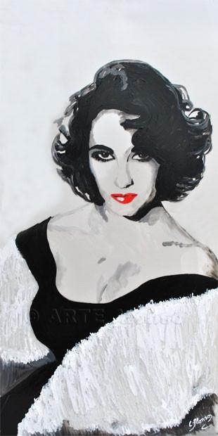 Liz (2011) 100 x 50 cm,  Acryl auf Plexiglas