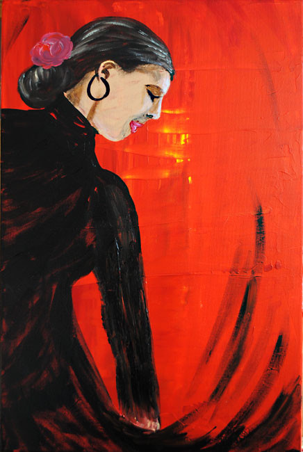 Flamenco anders (2010), 60 x 40 cm