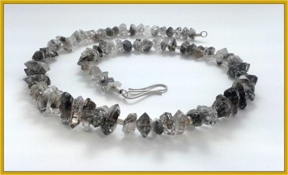 """""""Herkimer-Diamant"""" (Bergkristall-Rohkristalle)"""