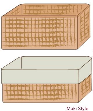 重なるラタン長方形バスケット・中 (V)約幅36×奥行26×高さ16cm. 仙台の無印良品 ...