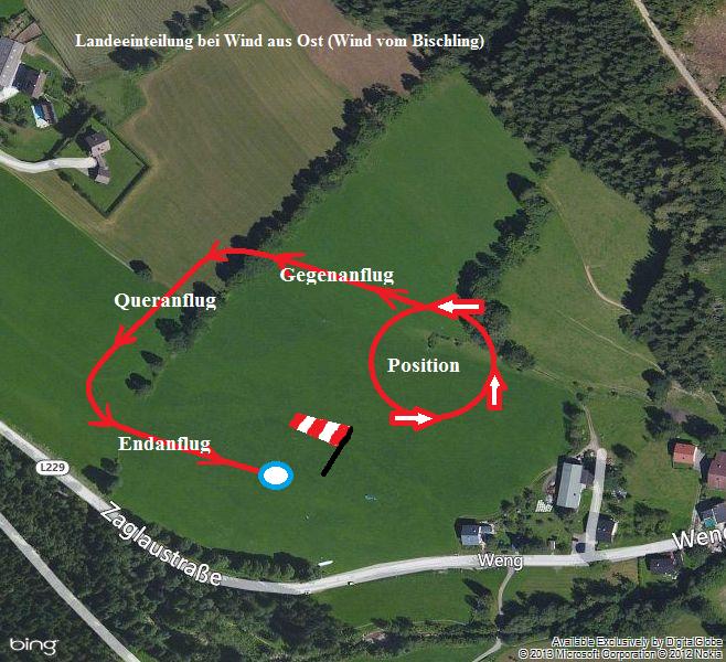 Bild 12: Queranflug bei Ostwind in Werfenweng