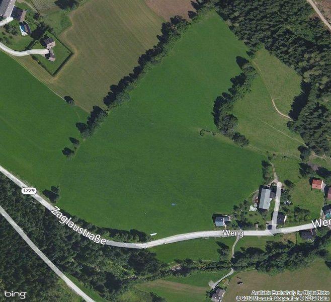 Bild 2: So sieht er aus der Landeplatz in Werfenweng für Gleitschirme und Drachen