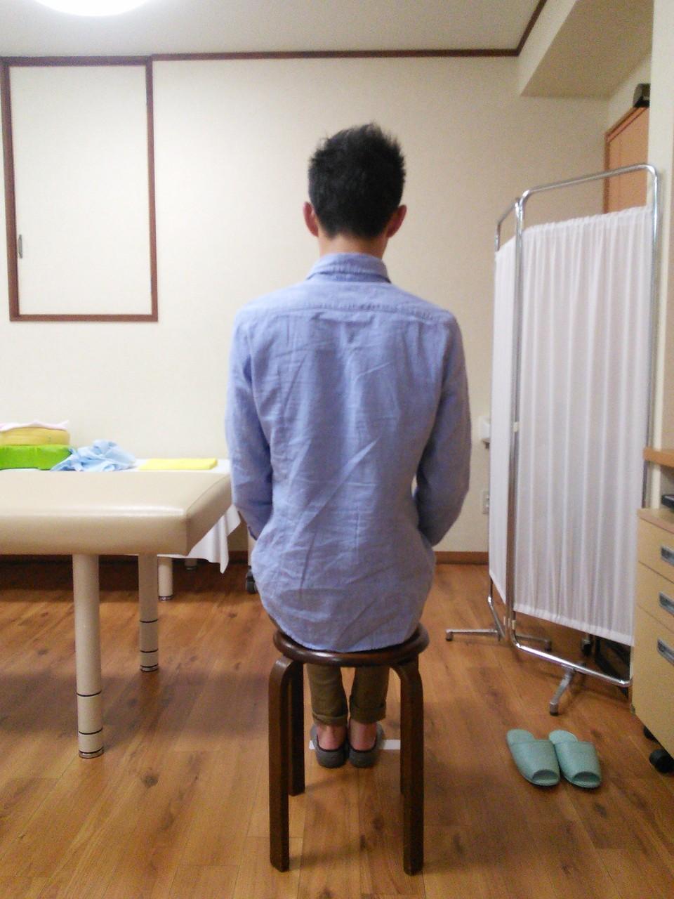 腰痛改善の施術後