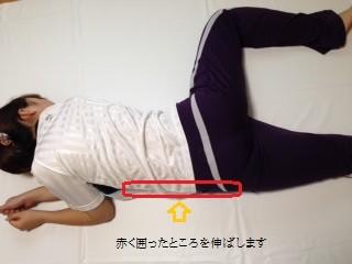 脇腹、腰痛、背中、のストレッチ