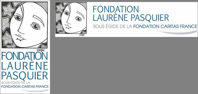Logo avec un de mes croquis pour l'association à la mémoire de Laurène