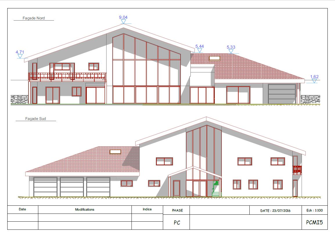 Permis de construire d claration pr alable plans for Extension travaux