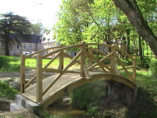 Fabrication d'un pont en chêne - Chestier