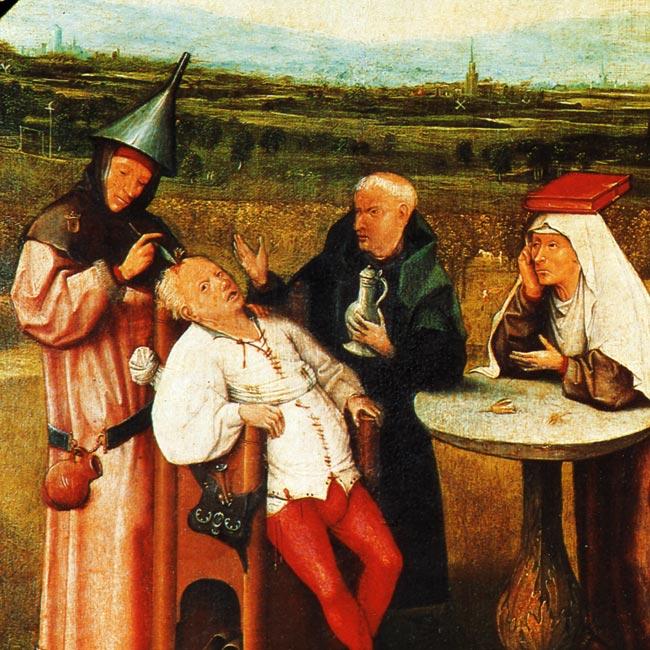 Hieronymus Bosch: Das Steinschneiden (~1494?)