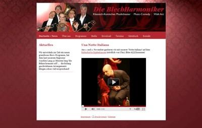 Jimdo webseite die-blechharmoniker.de