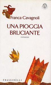 """su e giù, cover-pic for f.cavagnoli's novel """"una pioggia bruciante"""", 2000"""