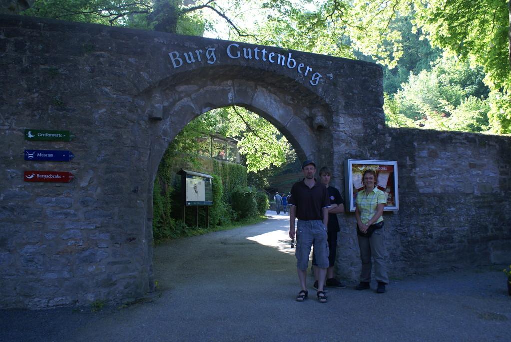 Deutsche Greifenwarte in der Burg Guttenberg