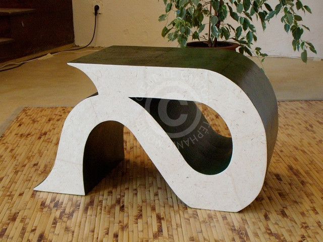 Pouf/table basse design en carton