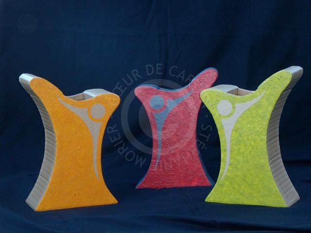 Vases en carton