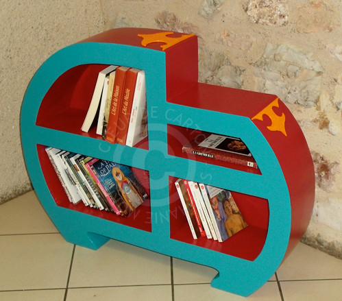 Etagère livres ou DVD en carton
